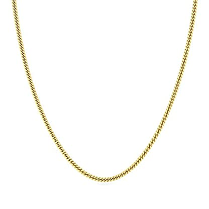Candere By Kalyan Jewellers Contemporary Collection 22k Yellow Gold Lucian Chain Necklace for Men