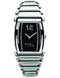 Breil TW0524 - Reloj con correa de piel para mujer, color negro / gris