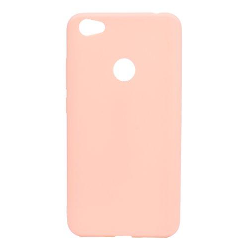 cuzz Funda para Xiaomi Redmi Note 5A+{Protector de Pantalla de Vidrio Templado} Carcasa Silicona Suave Gel Rasguño y Resistente Teléfono Móvil Cover-Rosa Claro