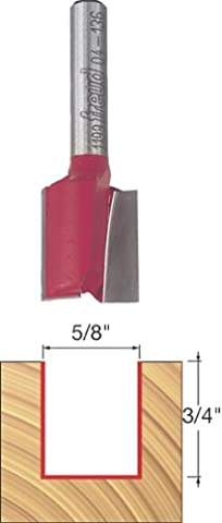 FREUD - 5/8-Inch 2-Flute Carbide Straight Router Bit