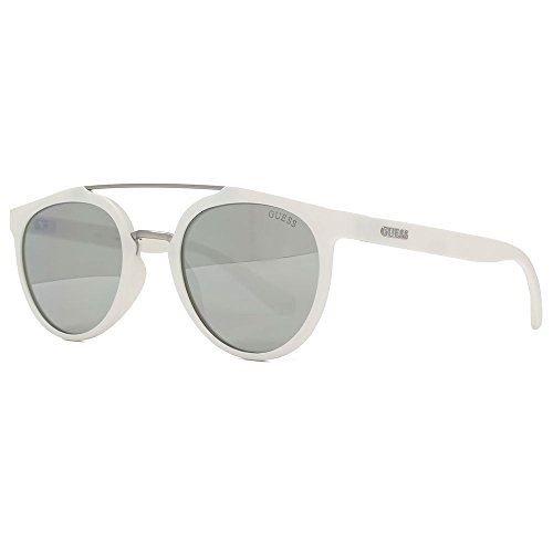 Guess Unisex-Erwachsene GU6890 21C 52 Sonnenbrille, Weiß (Bianco/Fumo Specchiato),