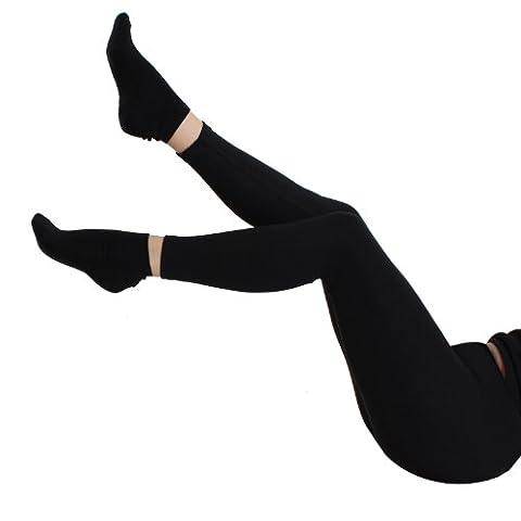 YeYo Ripp Stretch Legging Herbst/Winter Schwarz Gr. XXL