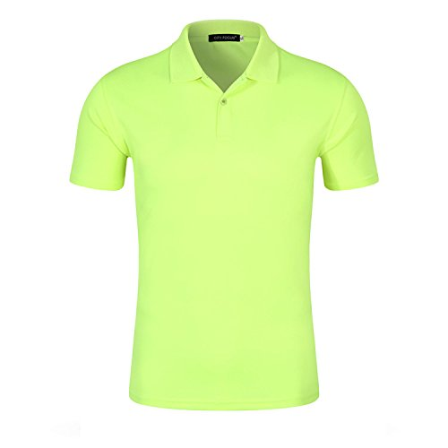 VB Donna Uomo Polo Shirt Custom puro cotone grande bavero breve testa manicotto Fluorescent Green168