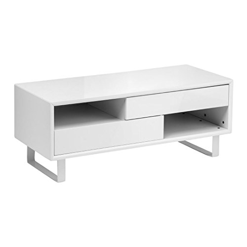 Protege Homeware Bianco Lucido Tavolino 2ripiani