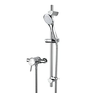 Bristan AE SHXAR C Acute Thermostatic Surface Mounted Shower Valve with Adjustable Riser - Chrome