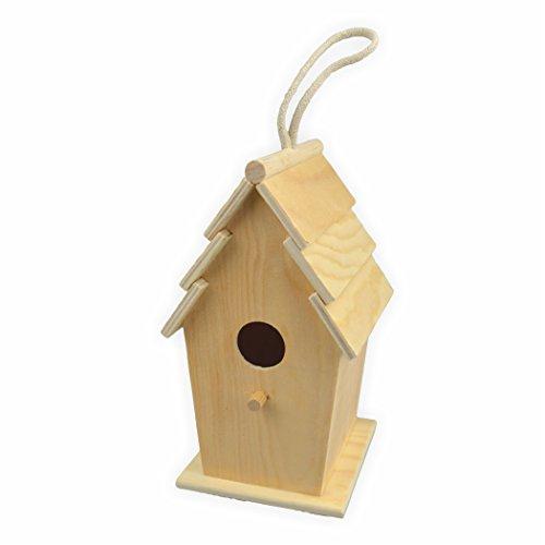 Creleo 791655 Vogelhaus zum bemalen rechteckig  h=20,5 d= 13 cm