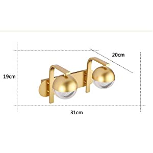 Led 12w Bathroom Vanity Mirror Wall Lamp, Simple Golden Sanitary Napkin Bedroom Creative 2 Anti-fog Mirror Headlights