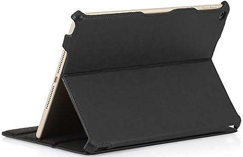 StilGut UltraSlim, Hülle mit Standfunktion für Apple iPad Air 2, schwarz vintage