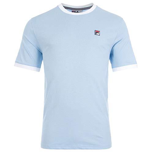 Fila Vintage Ringer T Shirt Sky Blue/White S (Fila Vintage Shirt)