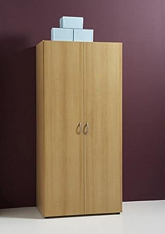 Kleiderschrank Basic 2-türig Buche Dekor