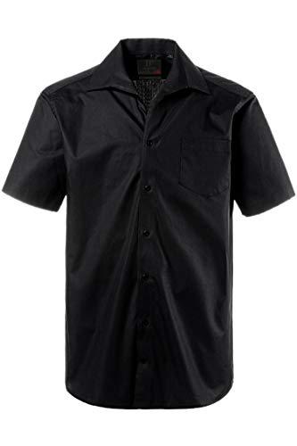 JP 1880 JP 1880 Herren große Größen Hemd, Halbarm, Variokragen, Comfort Fit-Schnitt schwarz L 705178 10-L