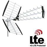 ANTENNE DE TOIT MAISON TNT TELE TV TELEVISION UHF AVEC FILTRE LTE 4G