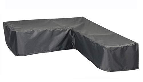 Hentex Cover Loungemöbel Abdeckhaube für L-Form Sofas,Wasserdichtes Atmungsaktives TPU Gewebe Abdeckhaube für Gartenmöbel ,Wasserdicht Schutz vor Wind UV schützende (Grau (235 * 235 * 100W*70H cm)