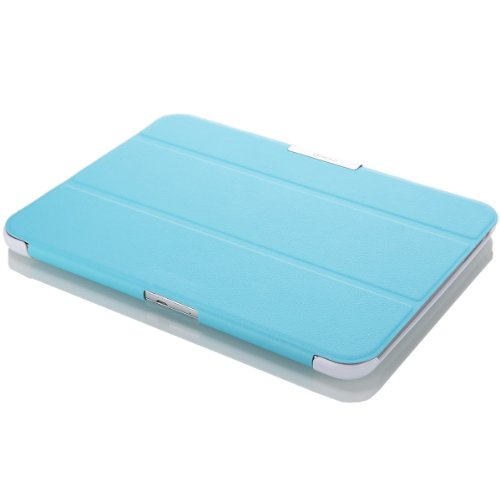MoKo Dell Venue 7.0 Hülle Case - Ultra Slim Schutzhülle Cover Premium PU Leder Folio Etui Tasche Schale Smart Cover für Dell Venue 7.0 3740 Android Tablet,Hell BLAU