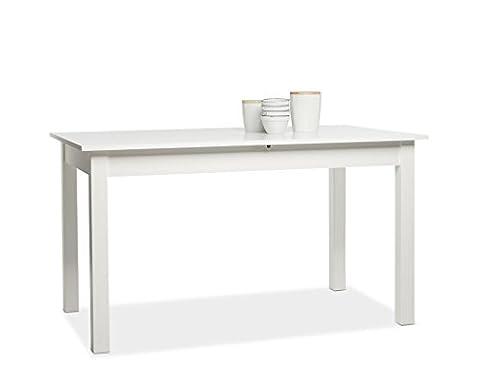 Esstisch Cottbus weiß 140(180)x80 cm Esszimmertisch Speisetisch Auszugstisch Küchentisch Tisch Esszimmer