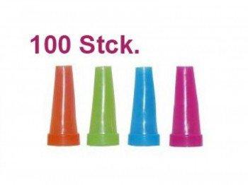 Hygiene Mundstück aussen (100 Stück Einweg) für Shisha, Wasserpfeife - BUNT