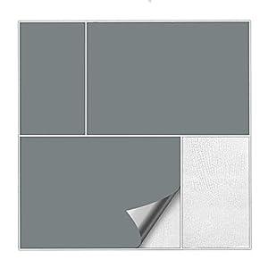 Kiwistar Fliesenaufkleber Grau 71 Seidenmatt - 20 x 40 cm - 25 Stück - Für Bad, Küche etc