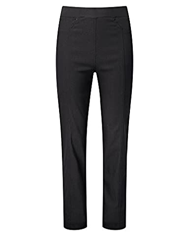 Cotton Traders Womens Super Stretchy Pull-On Elasticated Trousers Twill Pants Leg Size 29