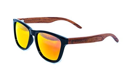 WoodEyez - DIE Holz-Sonnenbrille - unisex (besonders für schmalere Gesichter geeignet) - UV 400 Cat 3 - Polfilter - Holzbügel - hochwertige Federscharniere - Echtholz