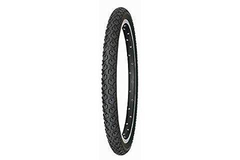 Michelin City J Confort, Pneu Vélo Junior, Tringle Rigide, Noir/Blanc, 500 A