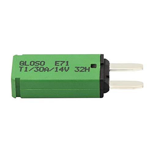 DC 14V Auto Reset Mini Leistungsschalter Blade Fuse für Auto Boot (30A grün) 30a Mini Blade Fuse
