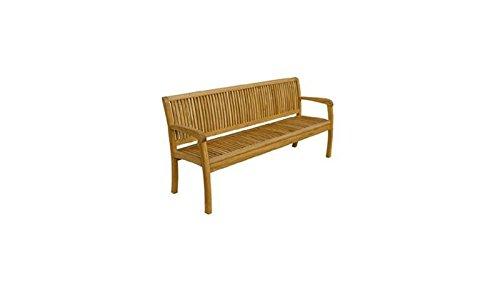 Langlebige 3-Sitzer Holz-Bank / Garten-Bank 'Calgary II' aus hochwertigem, geölten Robinien-Holz...