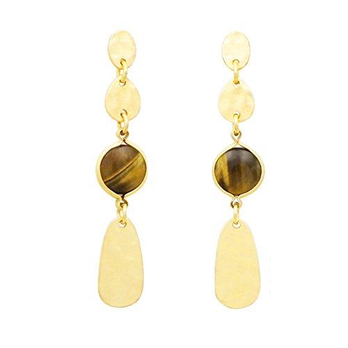 Rosemarie Kollektionen Frauen 'S Post Ohrringe braun gold Farbe abgestuftes baumeln
