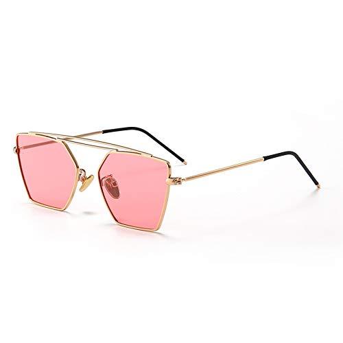 WARM home Wunderschönen Mode Kinder polarisierten Sonnenbrillen Farbfilm Gezeiten Sonnenbrillen Outdoor Brille geometrischen Rahmen Geschenk (Color : Pink)