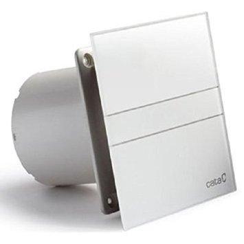 Ventilator / Lüfter / Badlüfter / CATA E-100 G / Standard / Glas / Glasfront / stark 115 m³/h / sehr leise 31 dB / energiesparend 8 W / Kugellager / EU Markenqualität seit 1947