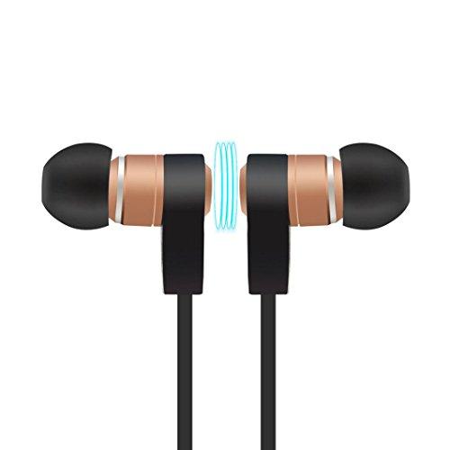 Headset Handy Hände Frei (Xshuai In-Ear-Design Geräuschunterdrückung Wireless Uversal Bluetooth-Headset Sport Stereo-Kopfhörer-Kopfhörer für iPhone 7/7 Plus-6s / 6s Plus Google Pixel, Samsung, Tabletten, Samsung, LG V20 PSP / (Gold))