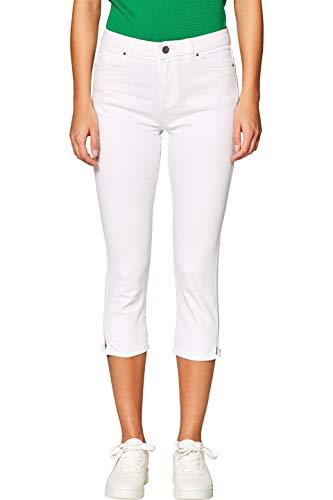 edc by ESPRIT Damen 039CC1B037 Hose, Weiß (White 100), W36(Herstellergröße: 36)