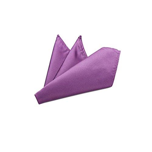 Rusty Bob - Einstecktuch einfarbig - Tuch aus Polyester - Kavalierstuch Pochette Stecktuch - Taschentuch - Amethyst