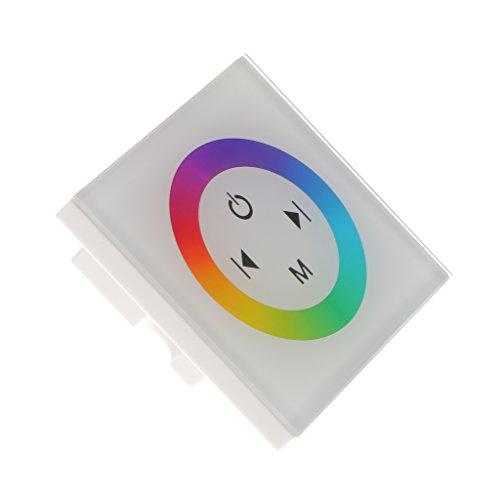 MagiDeal Montado en Pared 5050 3528 SMD RGB Luz de Tira de vidrio Panel de Control Táctil Panel Led Controlador DC12V-24V