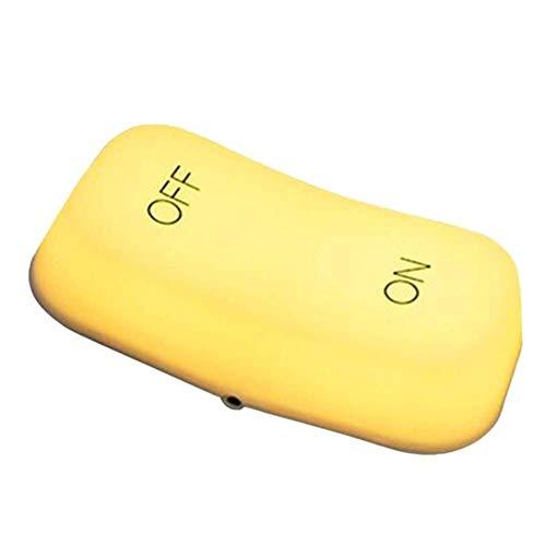 ZAQXSW El botón de Dos Pasos de la luz del Interruptor del Sensor de Gravedad Puede Ajustar la lámpara de la atmósfera Creativa de la luz Nocturna de la Mesa de Noche (Color : Yellow Light)