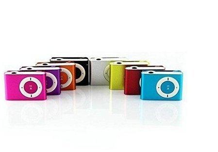 Angelo Caro Mini-Clip-Metall USB MP3Musik Media Player unterstützt 1–8GB Micro SD tf-sliver