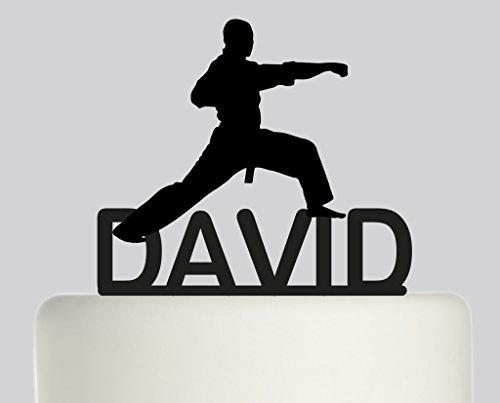 Artes marciales–Karate–artes marciales–Judo––jui-jitsu personalizado tarta Topper- decoración para tarta para acrílico–acrílico negro