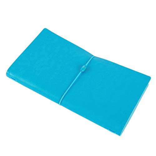 L_shop Schnür-Notizbuch Vintage Retro Papier Executive Notizbuch Schreib-Tagebuch Tagebuch Thought Book Office Business Notepad, Blue standard (large), 22 * 12.3cm