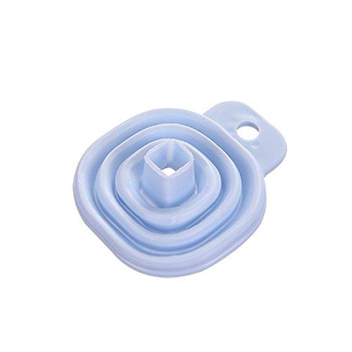 Einziehbarer Mini-Trichter für Flüssigöl, Parfüm, Haushalt, Küche blau - Mischung Trichter