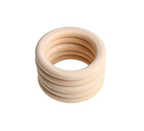 10 piezas inacabadas anillos mordedor madera blanco