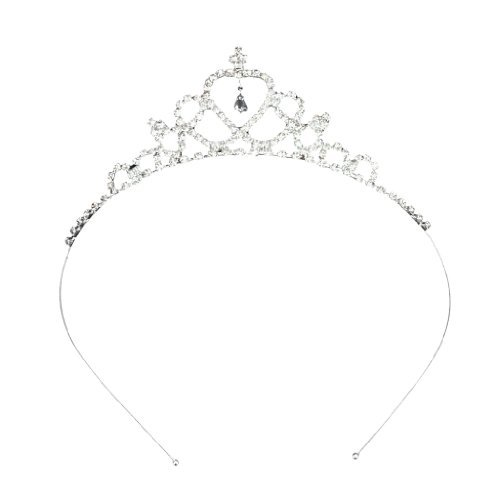 TOOGOO(R) Corona Tiara Diadema Forma de Nina de Las Flores de Corazon