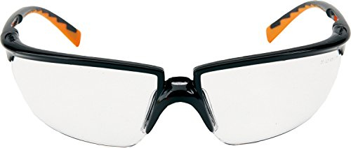 3M SOLUS Schutzbrille Solus0SO, AS/UV, PC, klar Rahmen schwarz/orange