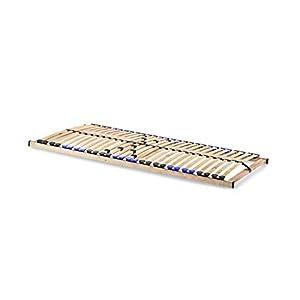 snoozo Lattenrost Lattenrahmen TwinFlex | 28 Federleisten | 5-facher Härteverstellung | zur Selbstmontage | geeignet für…