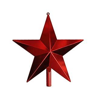 Christbaumspitzen-Weihnachtsbaum-Topper-Stern-Weihnachtsfest-Festival-Dekoration-GeschenkRot25cm