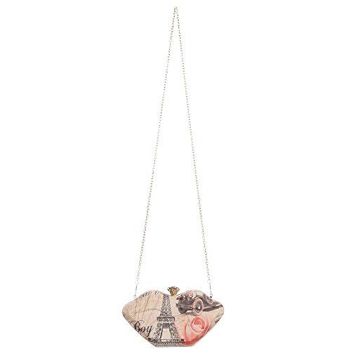 Ital-Design  Clutch-tasche Bei Ital-design, Pochette femme ecru
