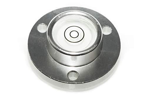 Dosenlibelle, Mini-Wasserwaage, Aluminium, mit Flansch Ø 35mm, Libelle 20mm Höhe 12mm