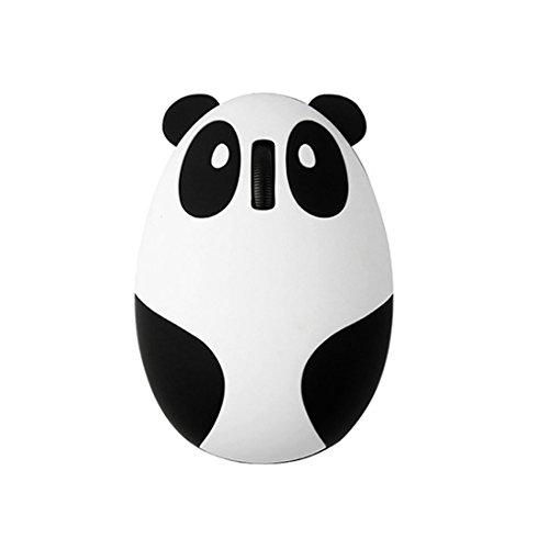 Panda Personalisierte Cartoon Maus Wireless Optical Wiederaufladbare Empfänger 1200dpi, leise Knopf