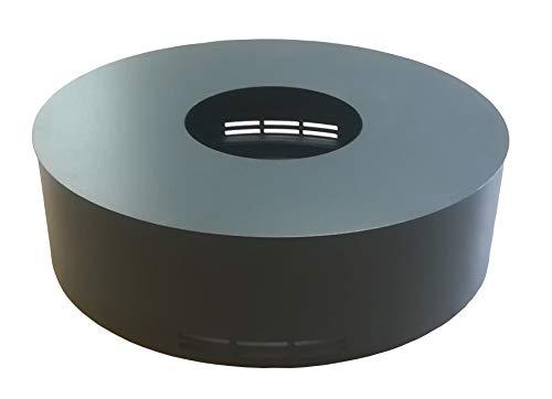 Kaminabdeckung magnetisch schwarz Ø 36 cm für Ø 80 -