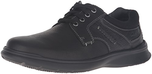 CLARKS Mens Cotrell Plain Oxford Black Oily