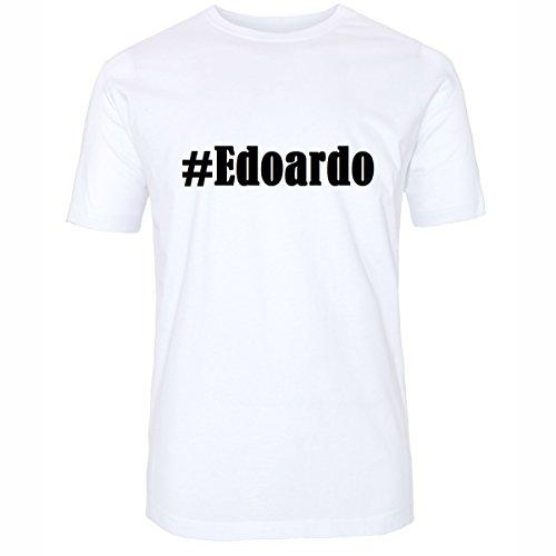 T-Shirt #Edoardo Hashtag Raute für Damen Herren und Kinder ... in den Farben Schwarz und Weiss Weiß