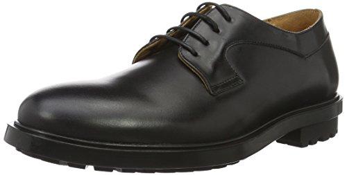 PAUL & JOE Indian, Chaussures Lacées Homme Noir (Veau Abrasivato Noir)